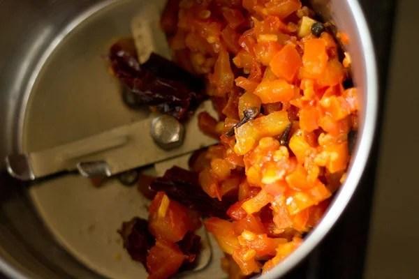 tomato mixture for tomato chutney recipe