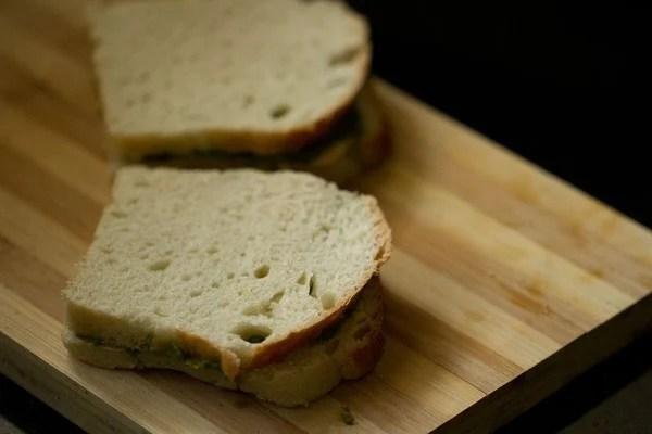 making chutney sandwich recipe