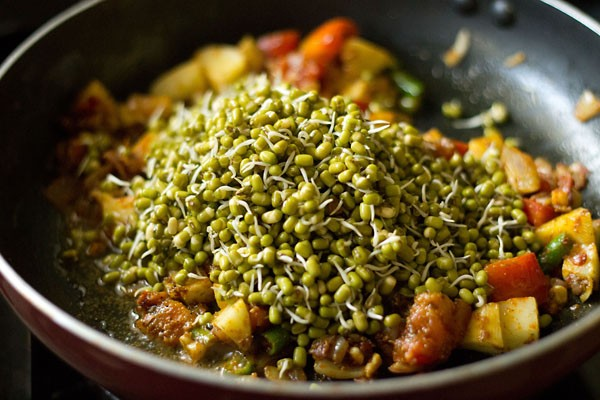 add moong sprouts