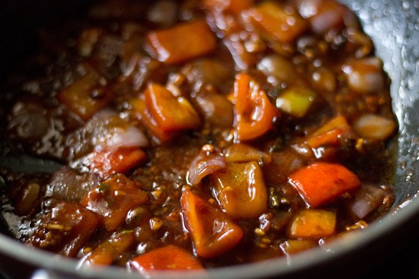 stir - mushroom manchurian gravy recipe