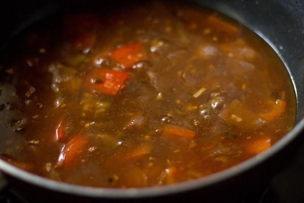 simmer mushroom manchurian recipe