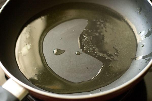 heat ghee - making paneer korma recipe