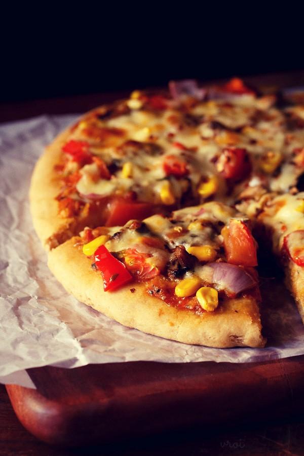 whole wheat atta pizza