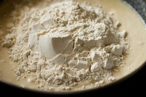 preparing dough for atta pizza recipe