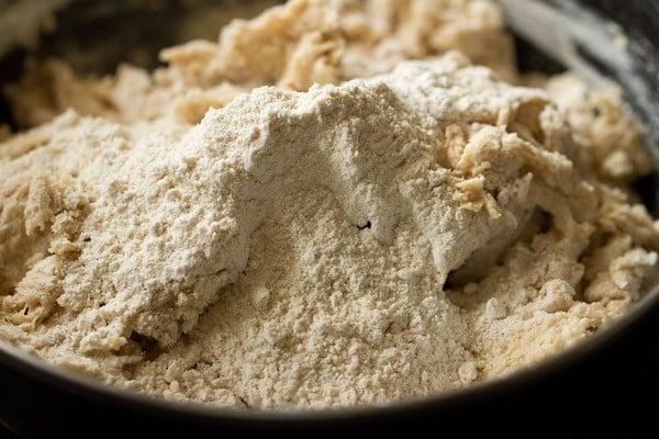 preparing dough for whole wheat pizza recipe