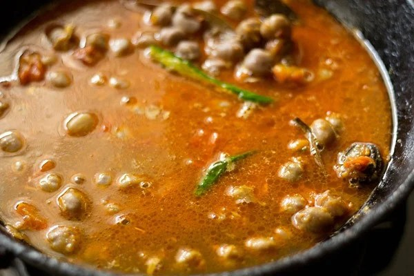water for chole paneer recipe