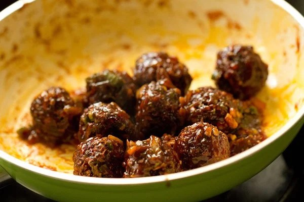 stir dry veg manchurian recipe