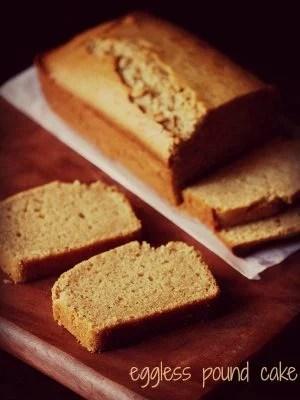 pound cake, eggless pound cake recipe