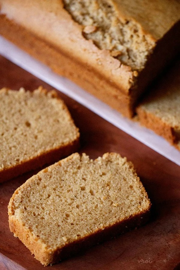 eggless wholewheat pound cake recipe