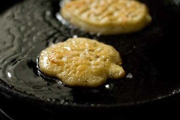 frying malpua - malpua recipe