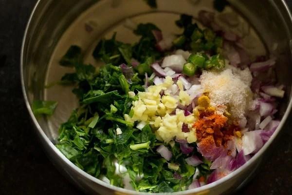 batter for methi pakora recipe