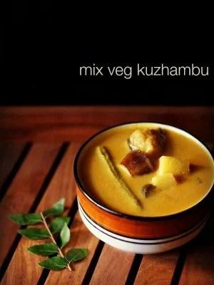 veg kuzhambu, mix veg kuzhambu recipe