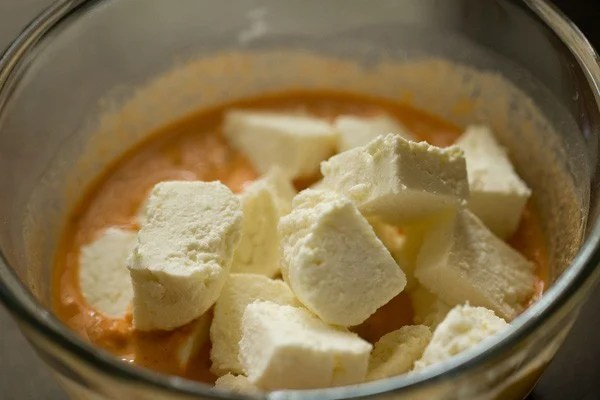 marinating paneer for paneer 65 recipe