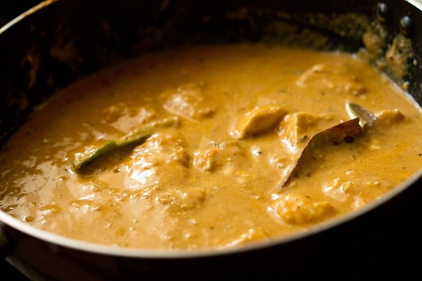 cream mixed and paneer lababdar is ready to be served