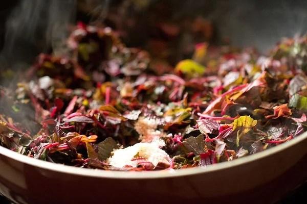 salt for red amaranth sabzi