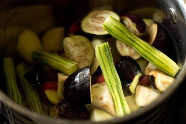 veggies for veg kuzhambu recipe