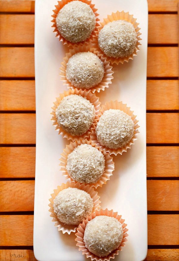 coconut ladoos condensed milk, coconut ladoo recipe