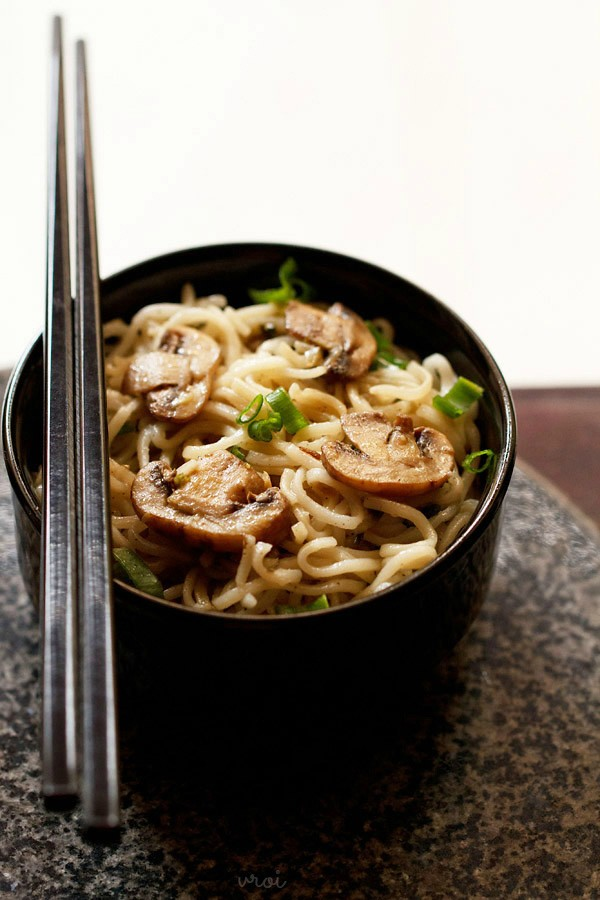 mushroom noodles recipe, mushroom noodles