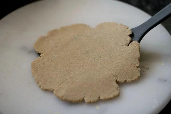 rolled paratha - making rajgira paratha recipe