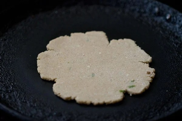 frying - amaranth paratha recipe