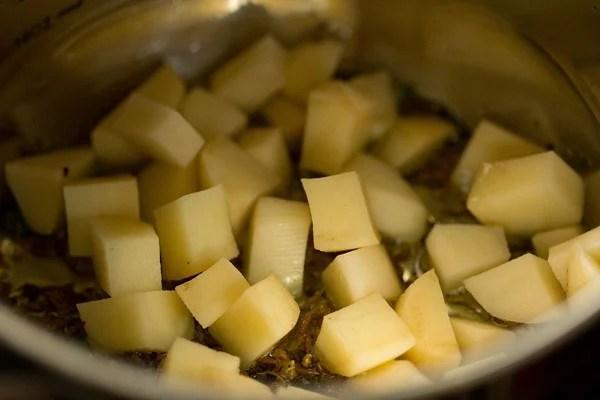 potatoes for sama chawal khichdi recipe