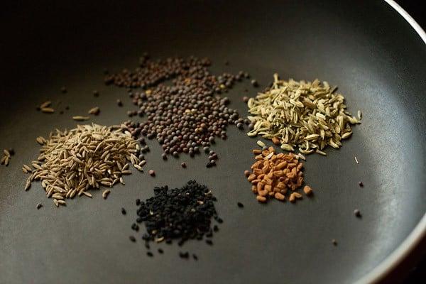 spices for achari paneer masala recipe