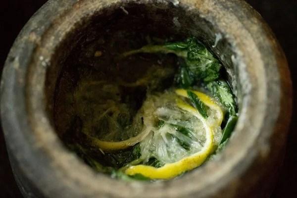 muddle basil lemon mojito ingredients