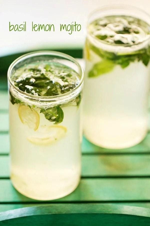 basil lemon mojito, basil lemon mojito recipe