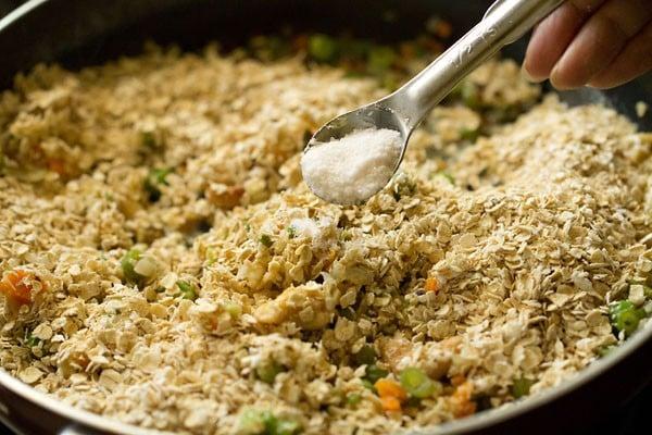 salt for oats upma recipe