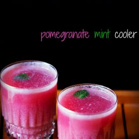 pomegranate lemon cooler recipe, pomegranate mint cooler recipe