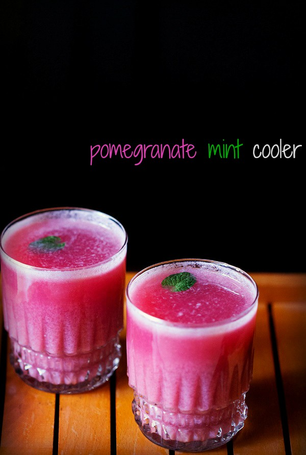 pomegranate lemon cooler recipe, pomegranate mint cooler recipe