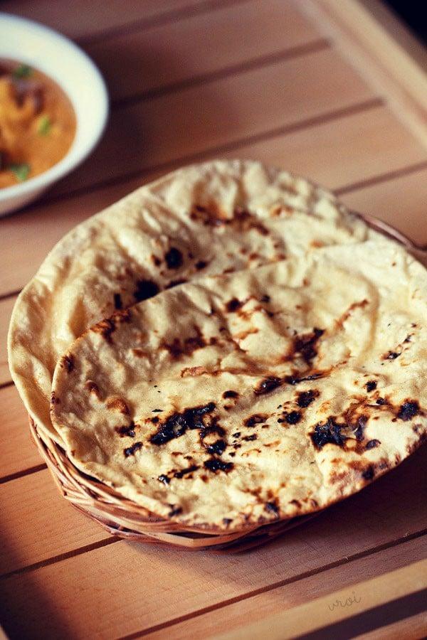 Punjabi tandoori roti, tandoori roti recipe, butter roti recipe