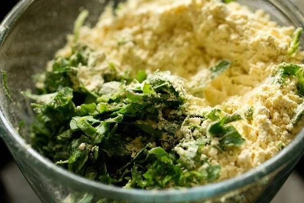 methi for undhiyu recipe