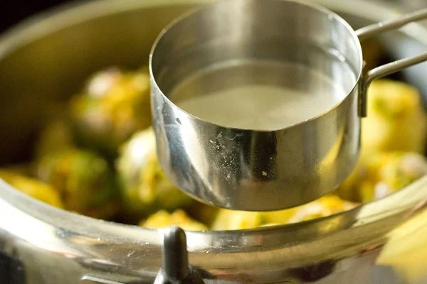 water for undhiyu recipe