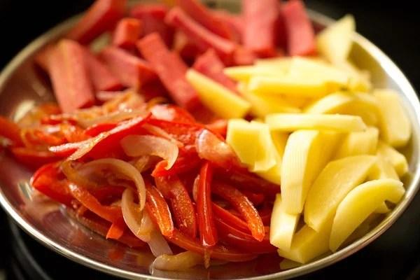 vegetables for veg kadai recipe