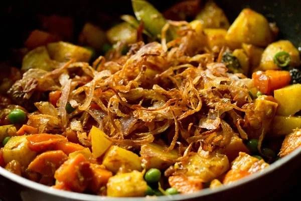 birista for Bombay biryani recipe