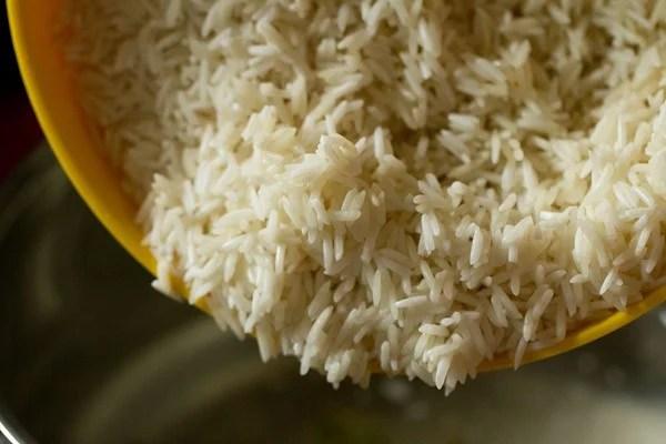 rice for Bombay biryani recipe