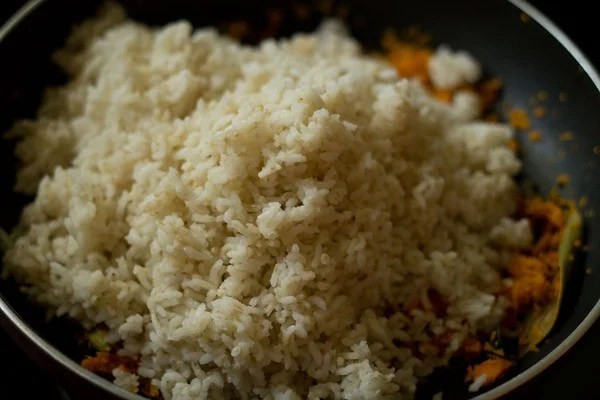 added cooked rice