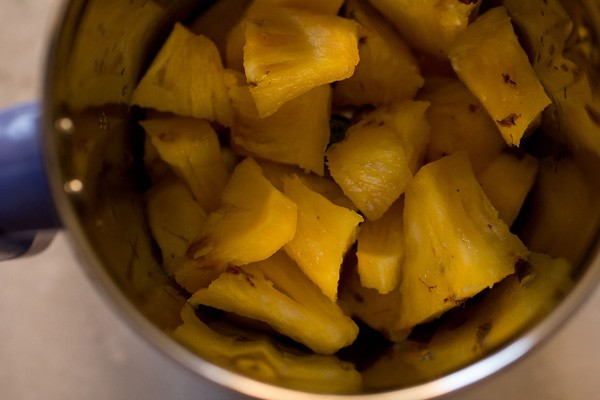 chopped pineapple for pineapple juice recipe
