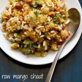 raw mango chaat, raw mango bhel, mango chaat