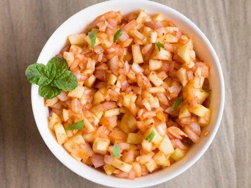 raw mango chaat recipe