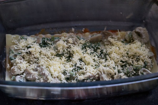 cheese for spinach mushroom lasagna recipe