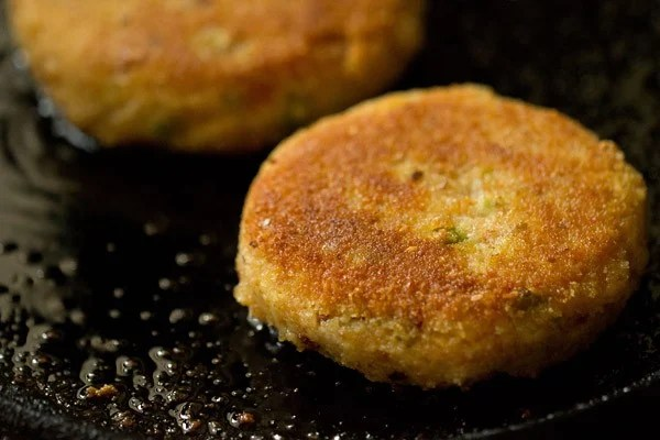 frying patties for veg burger recipe
