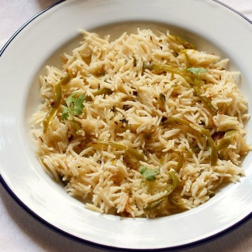 capsicum rice recipe, capsicum pulao recipe