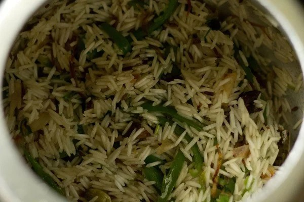 stir capsicum rice