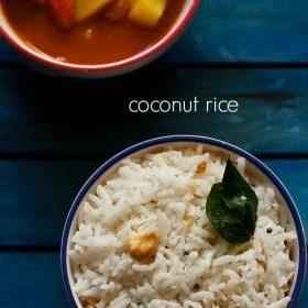 coconut rice recipe, thengai sadam