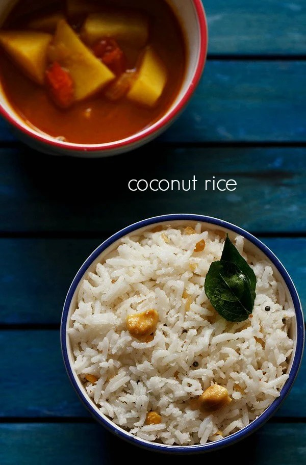 coconut rice recipe, thengai sadam