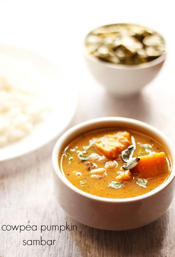cowpea pumpkin sambar