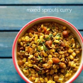 sprouts curry recipe, mixed sprouts curry