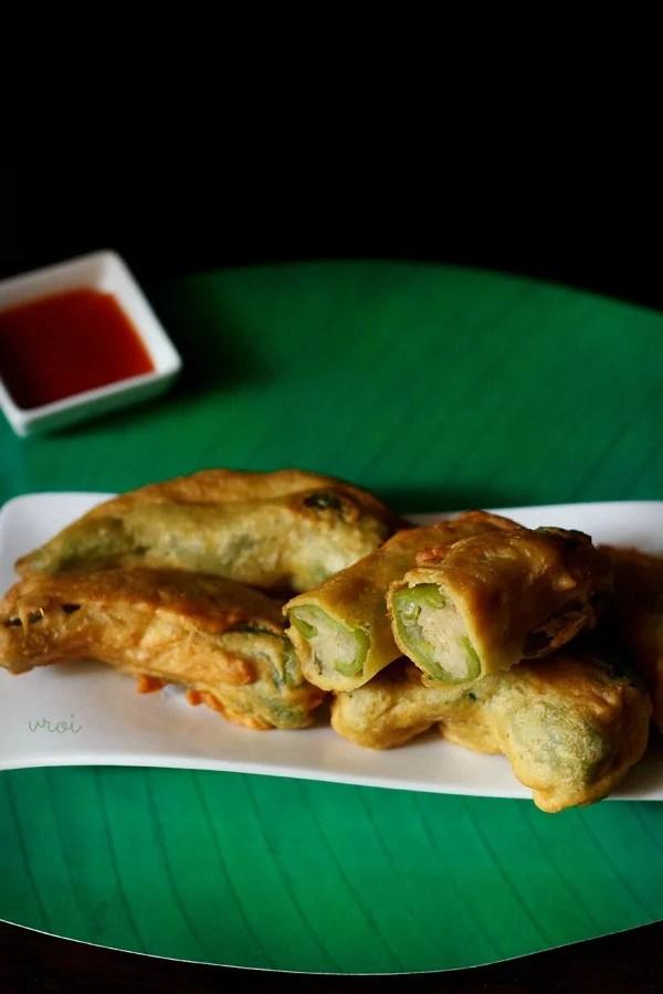 Rajasthani mirchi vada recipe, mirchi vada recipe